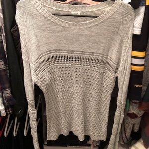 See through knit sweater that's light weight